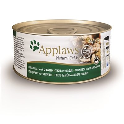 Applaws cat blik adult tuna / seaweed in bouillon